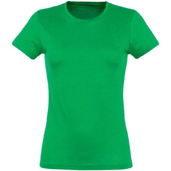 Футболка женская премиум Пенье, цвет зеленый