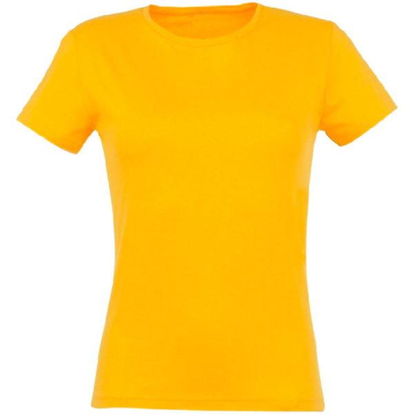 Футболка женская премиум Пенье, цвет желтый