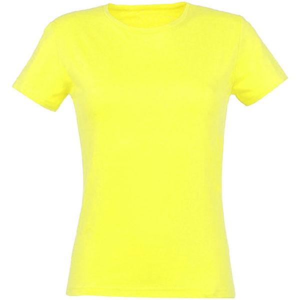 Футболка женская премиум Пенье, цвет лимон