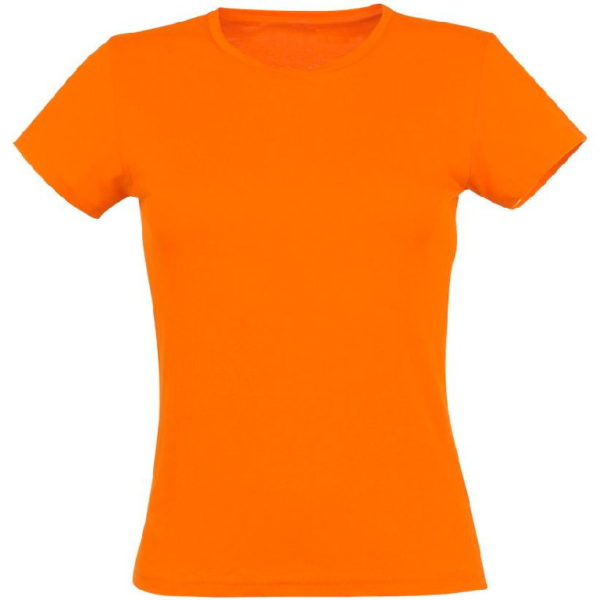 Футболка женская премиум Пенье, цвет оранж