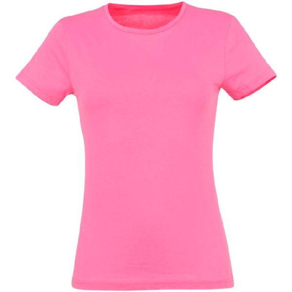 Футболка женская премиум Пенье, цвет розовый