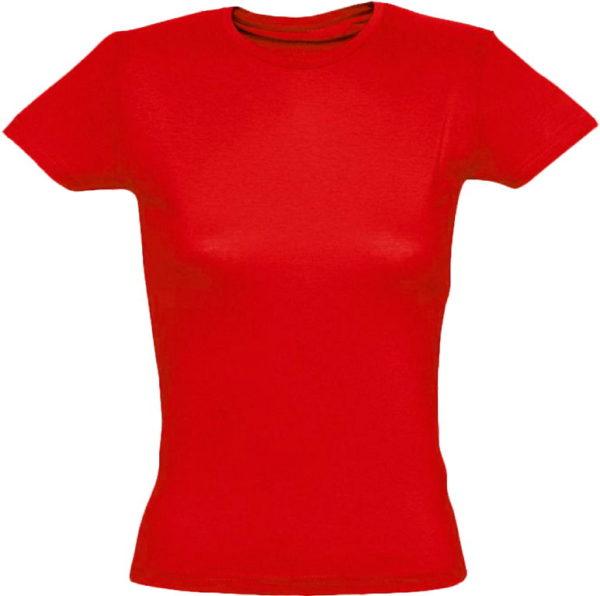 Футболка женская премиум Пенье, цвет красный