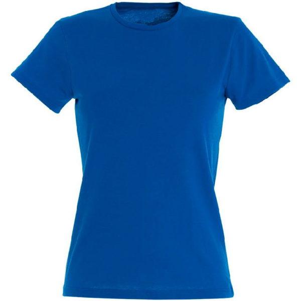 Футболка женская премиум Пенье, цвет синий