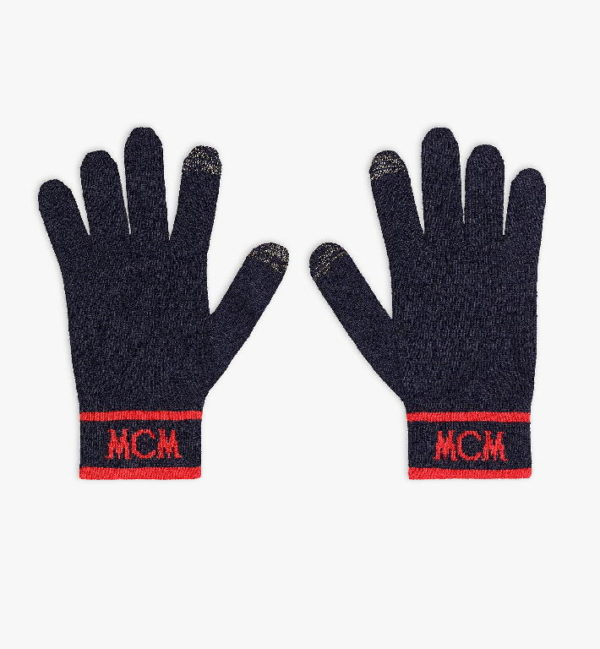 Перчатки вязаные с логотипом