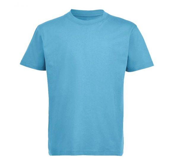 Футболка детская Премиум-180 цвет голубой