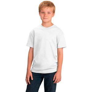 Футболка белая детская премиум 180