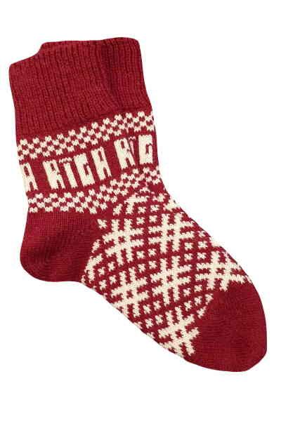 Носки вязаные с логотипом