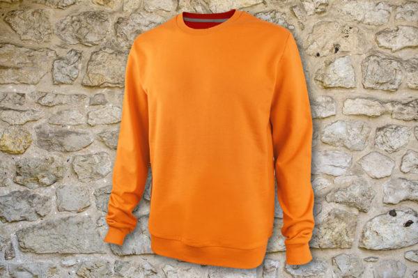 Свитшот мужской классик оранжевый