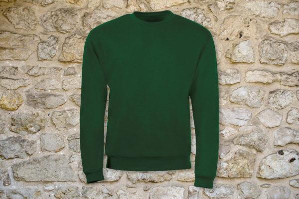 Свитшот мужской классик зеленый