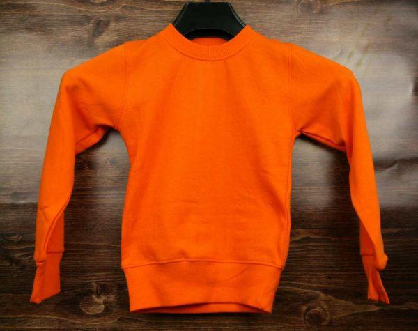Свитшот детский оранжевый