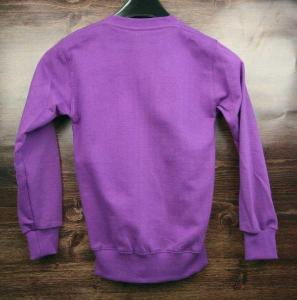 Свитшот детский фиолетовый