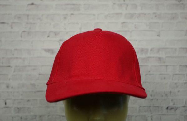 Бейсболка велюр красная