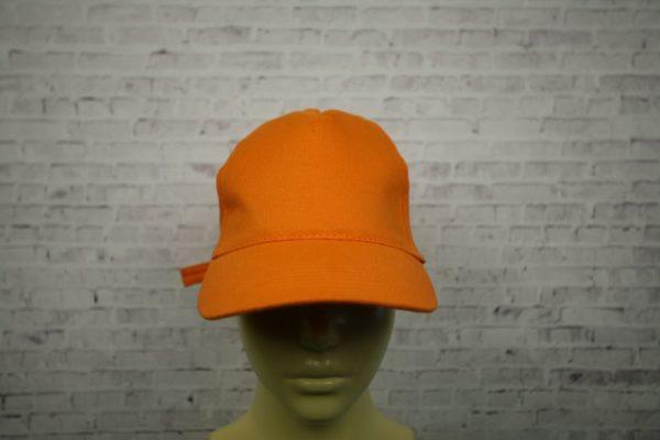 Бейсболка оранжевая полувелюр
