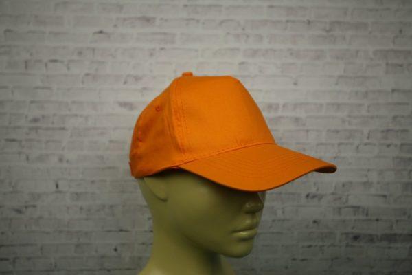 Бейсболка оранжевая средней плотности