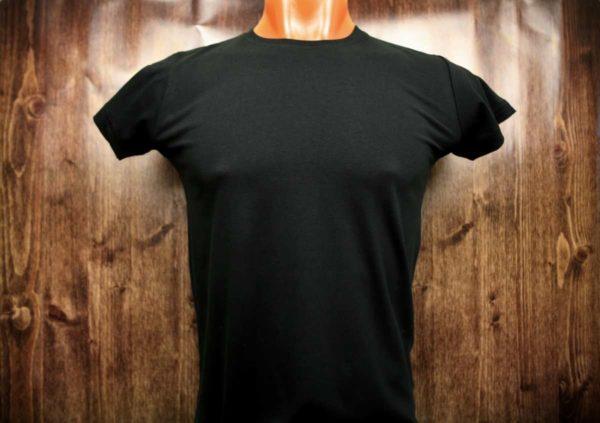 Черная промо футболка