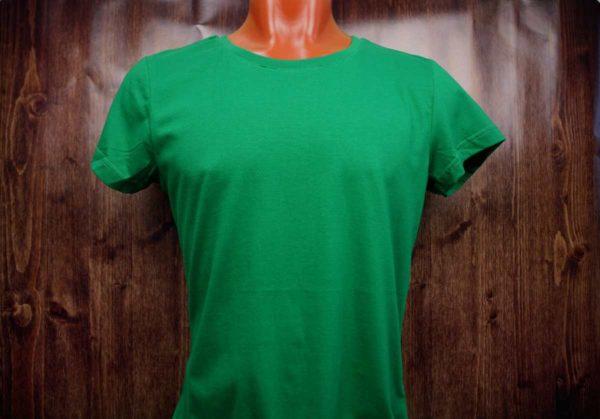 Зеленая промо футболка
