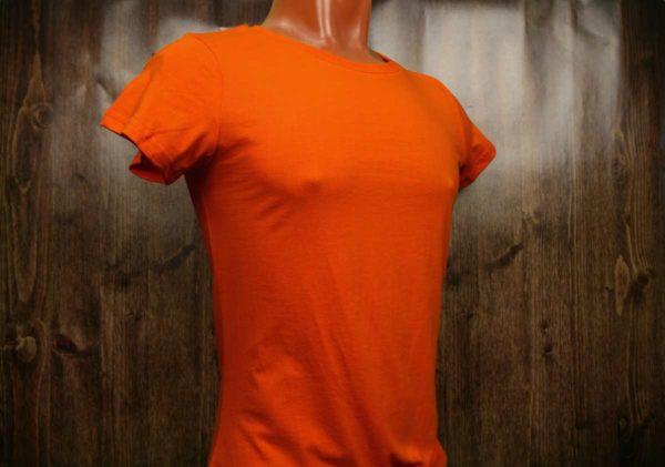 Оранжевая промо футболка