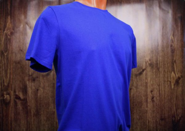 Синяя (василек) промо футболка