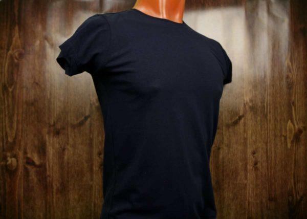 Темно-синяя промо футболка