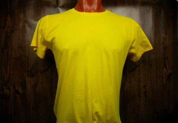 Желтая промо футболка