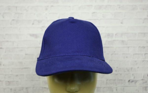 Бейсболка велюр синяя (василек)