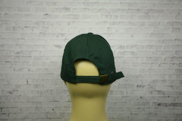 Бейсболка темно-зеленая полувелюр