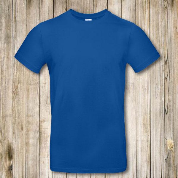 Синяя (василек) футболка Премиум