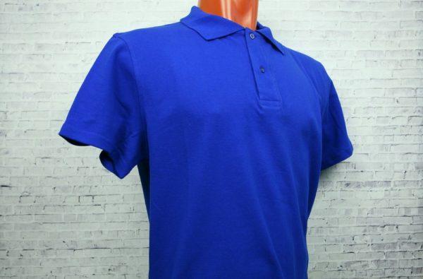 Рубашка поло мужская синий (василек)