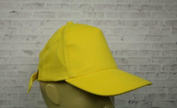 Бейсболка велюр желтая