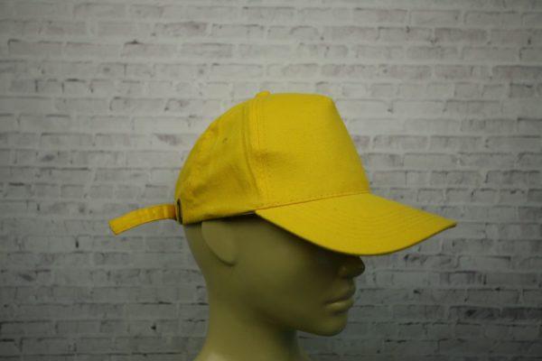 Бейсболка желтая полувелюр